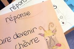 """panneau """"devenir chèvre"""""""